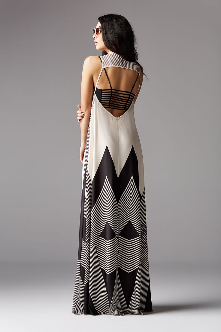 summer maxi dress with open back