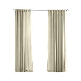 solaris 96in l cream canvas solid outdoor curtain panel loweu0027s