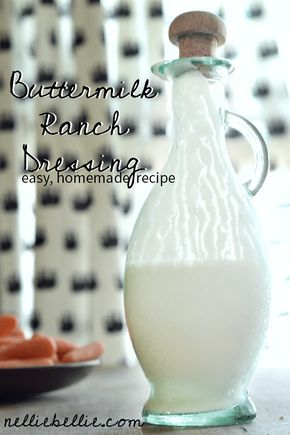 Homemade ranch dressing that is the easiest version you've ever seen! gluten-free, homemade dressing, ranch dressing