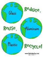 Preschool Earth Day on Reduce Reuse Recycle File Folder Game Download