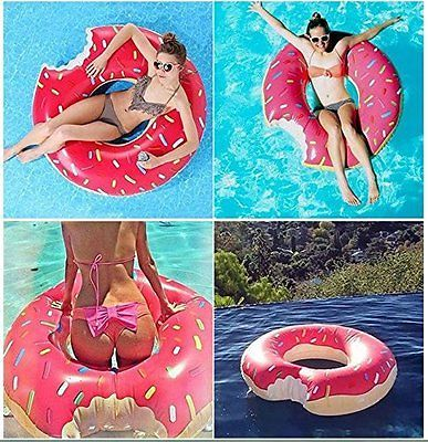 Inflatable Giant Fun Bite Shape Donut Swimming Pool Water Float Raft Swim Ring in Sporting Goods,Swimming,Floats & Inflatables   eBay