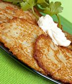 St. Patty's Potato Patties. Use coconut oil or olive oil for the pan instead of canola.
