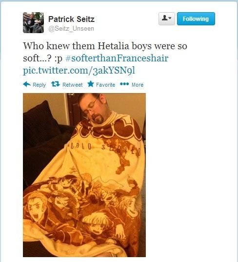 #softer than france's hair. XD thank you Patrick Seitz