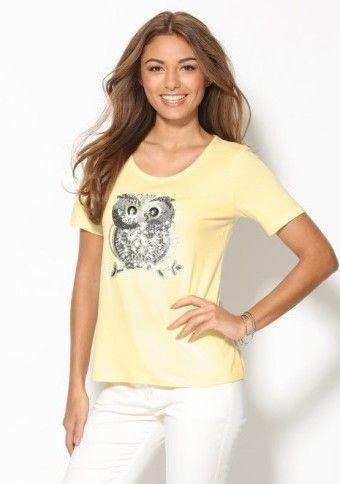 Tričko s flitrami #ModinoSK #yellow #pastels