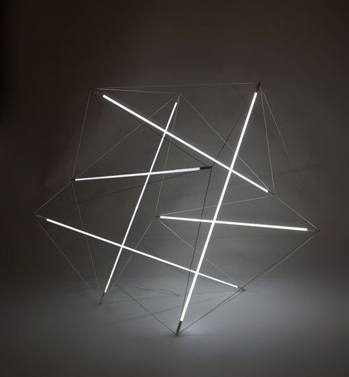 Michal Maciej Bartosik has created two new floating compression lights that are based on two of Kenneth Snelson's sculptures:  'Needle Tower' and 'City Boots'.: Bartosik Photo, Art Design
