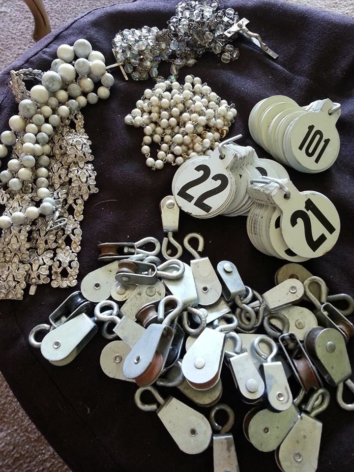 Yet another awesome day at the flea...all of this for under $40 (including 257 metal cattle tags!). #fleamarkethaul