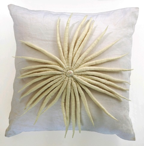 'Moonflower' cushion close-up