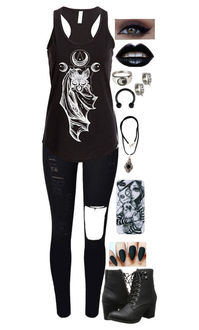 """""""96. Meeting Black veil Brides"""" by its-me-destiny ❤ liked on Polyvore featuring Madden Girl, Suzannah Wainhouse, NOVICA and Maria Francesca Pepe"""