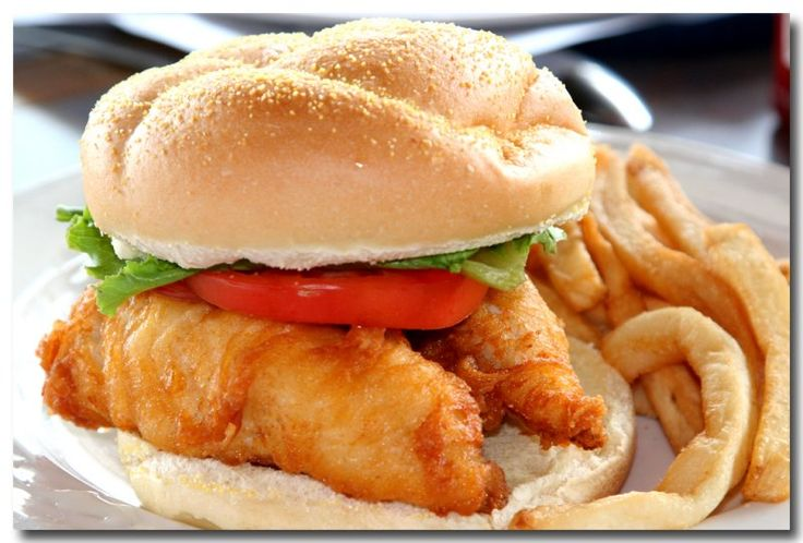 3 fish sandwiches while fish itself is very healthy for Fish sandwich fast food