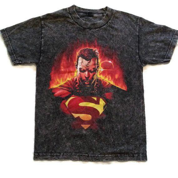 Stone Washed Superman Tshirt / Acid Wash Tee / by RetroFreshTees, $20.00