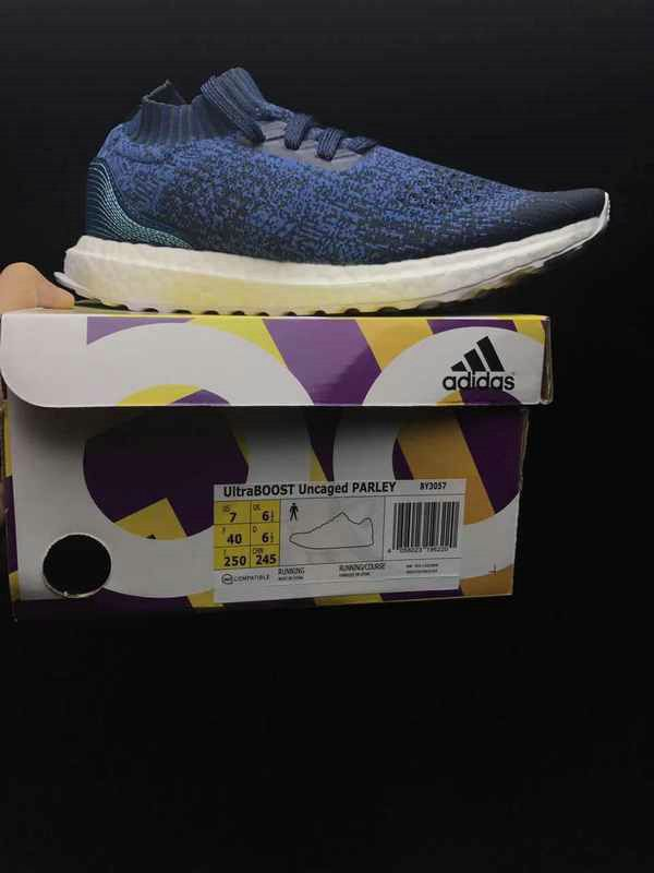 72310e1147f9d Official Unisex Adidas Ultra Boost Uncaged Parley Legend Blue Core BY3057  On Sale