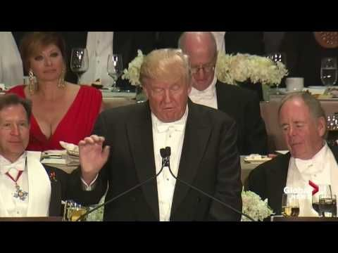 10-20-2016   Full monologue: Donald Trump roasts Hillary Clinton at Al Smith charity dinner - YouTube