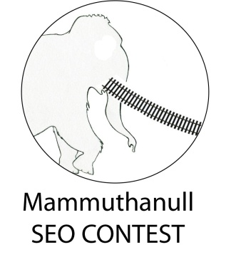 """Angelsmagazine ruft zu einem SEO (Suchmaschinenoptimierungs) -Wettstreit auf.    Ziel ist es, für den Begriff """"mammuthanull"""" (ohne """""""") eine Top-Position in den Google.de Ergebnislisten zu ergattern.    Das erfundene Wort muss mit der Seite http://railad.at verlinkt werden.    Mehr Info auf: http://angelsmagazine.blog.de/2012/04/16/schnapp-mammut-seo-wettstreit-rufe-b-suchmaschinenoptimierungs-wettstreit-b-ziel-begriff-mammutlokmodelleisenbahn-13520881/"""