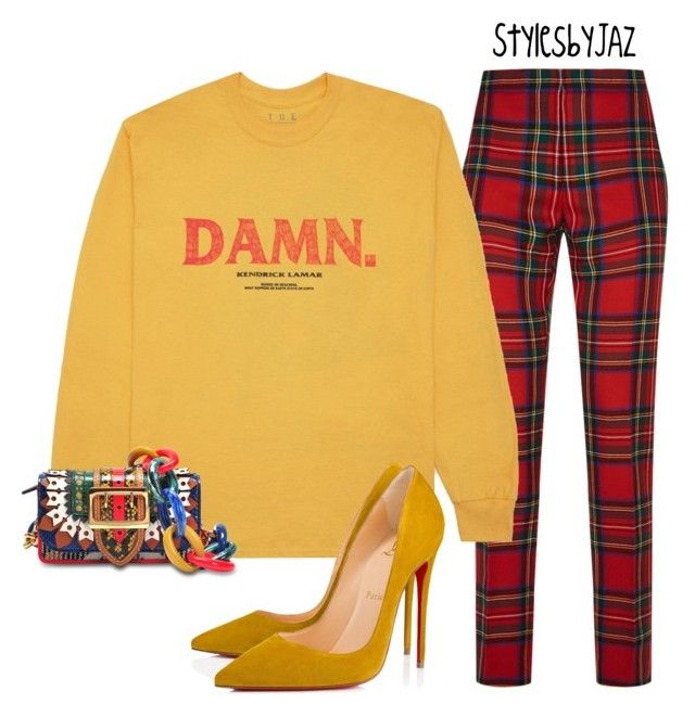 """""""Untitled #790"""" by harrisjazmin on Polyvore featuring Burberry, KENNY and Christian Louboutin"""