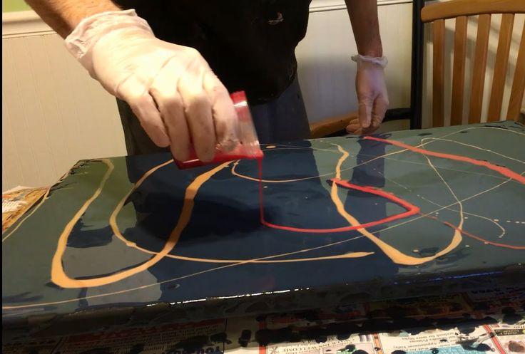 Liquitex Pouring Medium Art - Dark Lava Colors - YouTube