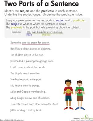 Worksheets Subject And Predicate Worksheets 5th Grade 1000 ideas about subject and predicate worksheets on pinterest this worksheet challenges kids to find the subjects predicates in text