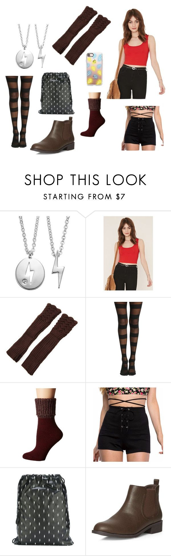 """""""Bolt - Penny"""" by peacereaper ❤ liked on Polyvore featuring Side by Side, Forever 21, Falke, Neil Barrett, Dorothy Perkins and Casetify"""