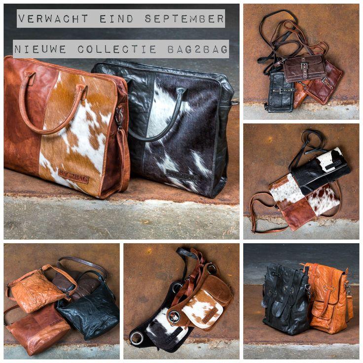 Een geweldig mooie nieuwe collectie leren tassen van Bag2Bag, verwacht eind september/begin oktober