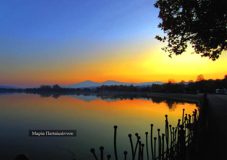 Pamvotida lake in Ioannina town