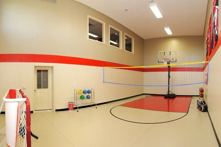 17 best ideas about home basketball court on pinterest for House plans with indoor basketball court