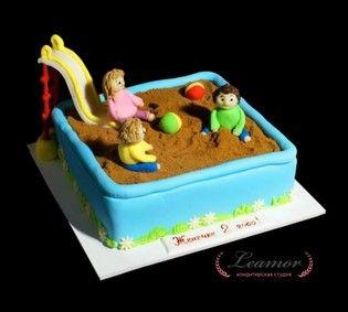 Торт дети в песочнице