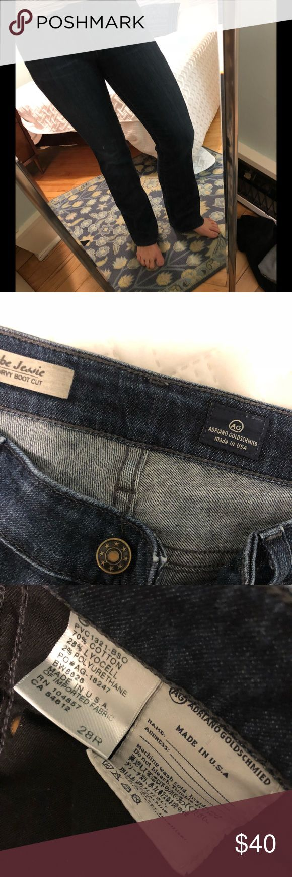 """AG Jeans, The Jessie. Curvy boot cut. 28R. AG Jeans, boot cut. Soft and comfortable! Professionally hemmed. Will add measurements later. The Jessie Curvy bootcut. 32"""" inseam. Ag Adriano Goldschmied Jeans Boot Cut"""
