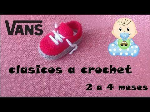 vans clasicos tejidos a crochet - YouTube