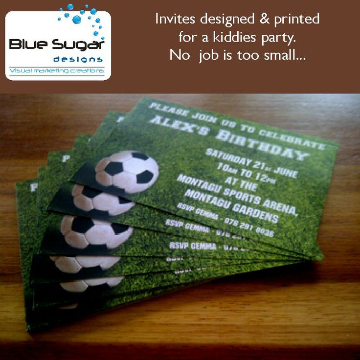 As you can see, no job IS too small.  350gsm card, printed and cut for invitations.  Check out www.bluesugardesigns.co.za for the full scope of our offering #bluesugarct