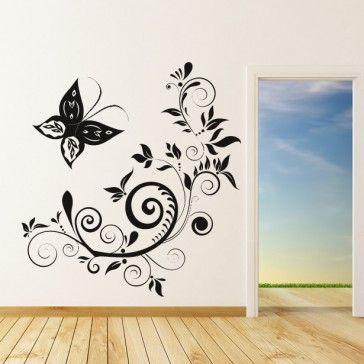 Butterfly floral wall art sticker wall decal butterfly wall stickers animals