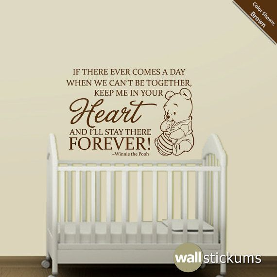 Nursery Wall Decal Quote Winnie The Pooh Heart By WallStickums, $28.00  Another Quote Part 80