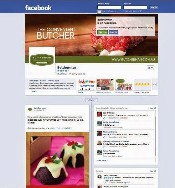 On Dec 20, 2013, we hit the milestone of having over 10,000 fans on our Facebook page >> www.facebook.com/butcherman.com.au | Especially being a #Sydney based #OnlineButcher who currently serve only the customers located in the Sydney, NSW region, we feel great that we achieved this milestone, and we can't thank enough all the fans, especially our Sydney based fans. Thanks, and wish you all a Merry Christmas!