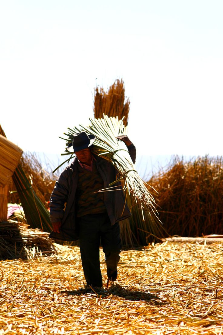 #Postcard from the floating islands of lake Titicaca