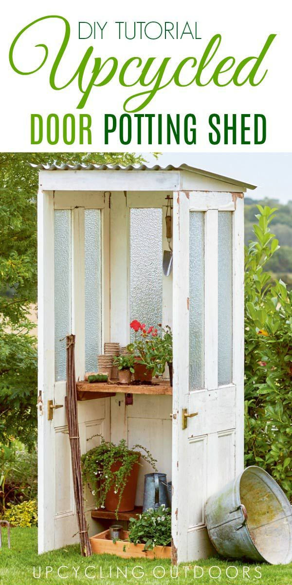 1662 best garden art junk decor images on pinterest for Mini potting shed