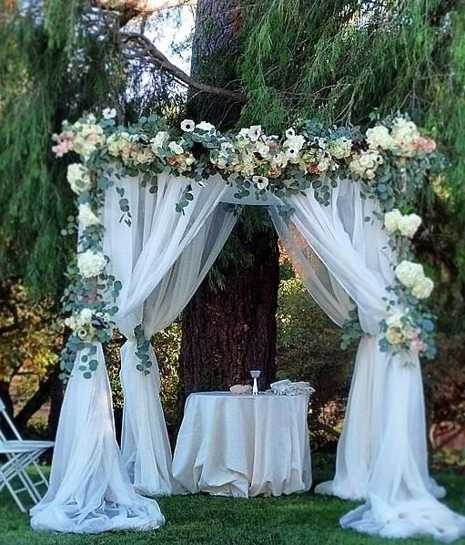 Tulle Arch Decorations Wedding Ideas: Best 20+ Wedding Arch Tulle Ideas On Pinterest