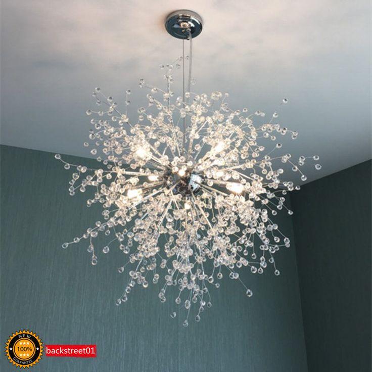 Modern Dandelion Led Chandelier Fireworks Pendant Lamp Ceiling Lighting Lights