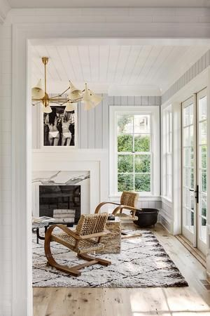 Single Hung Windows in Living Room from Julie Hillman Design