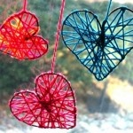 yarn hearts of Valentines Day! I know I've got Yarn and I've got a type of wire we'll have to see if they work!