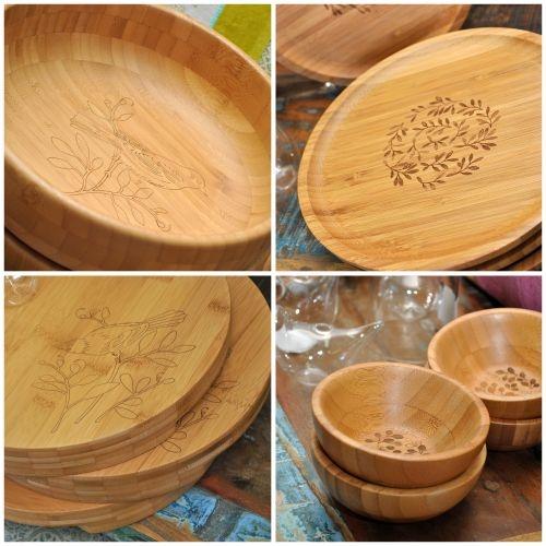 Bamboo servingware from Dandi -  Australian designed, botanically inspired.