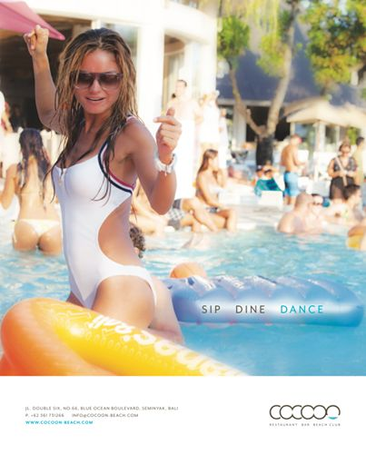 SIP. DINE. DANCE — at Cocoon Beach Club.