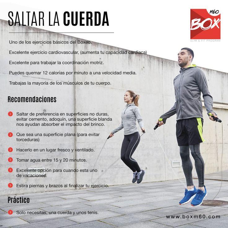 En BOXM60 te recomendamos saltar la cuerda, ya que te brinda beneficios como bajar de peso o mantener el peso ideal