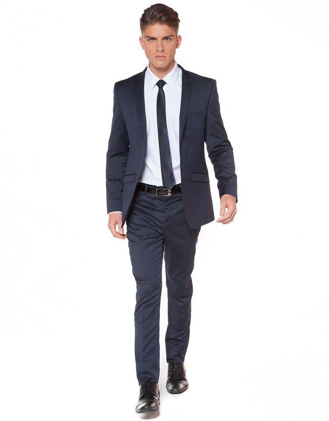 Crosby St 100% Wool Skinny Jacket | Men's Suit Jackets | Hallenstein Brothers
