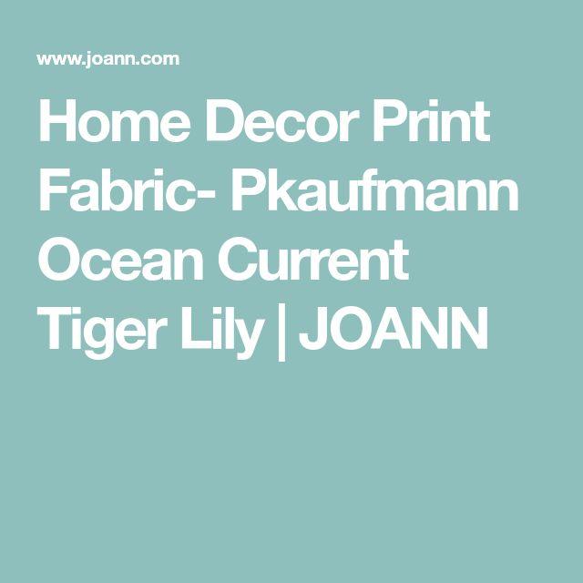 Home Decor Print Fabric- Pkaufmann Ocean Current Tiger Lily   JOANN