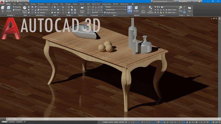 AutoCAD 3D Orta Sehpa Çizimi/1