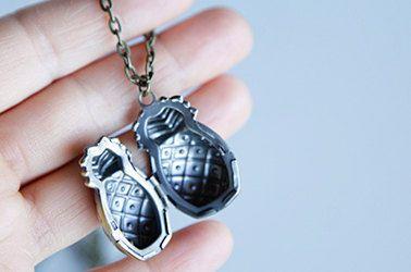Pineapple Locket Prayer Box Necklace Antique by GiftinForFifteen, $25.95