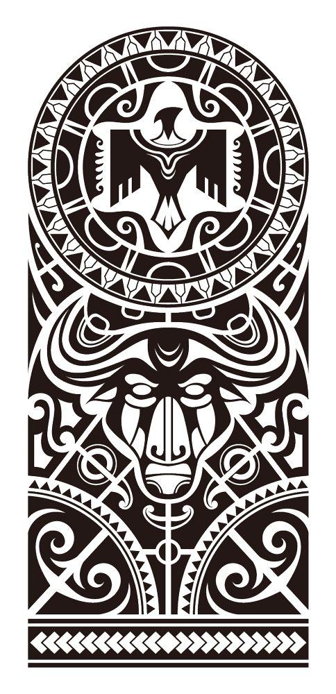 Maori sleeve tattoo                                                                                                                                                      Más