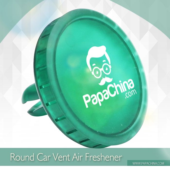 Getting your company logo into a prospects thought process is easy when you give them a Round Car Vent Air Freshener. Its ability of pleasant smelling and featuring round shaped, fresh lemon scent, refillable, plastic casing will get your message across and generate an interest in your company.