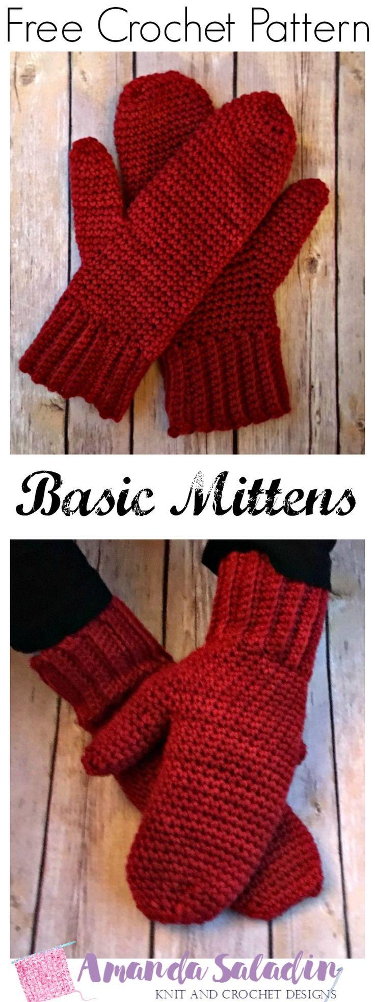 Best 25 simple crochet blanket ideas on pinterest easy crochet basic mittens free crochet pattern bankloansurffo Choice Image