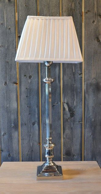 LAMP NICKEL PLATED 59CM