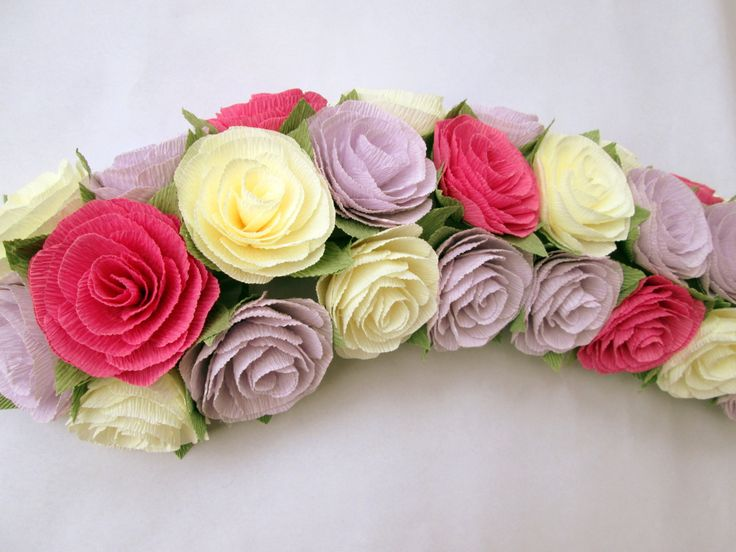 Paper Flower Garland/Paper Flowers/Wedding Arch Garland/Table Flower Garland/Shabby Chic Flower Garland/Rose Garland by LandofFlowers on Etsy https://www.etsy.com/listing/177393037/paper-flower-garlandpaper-flowerswedding