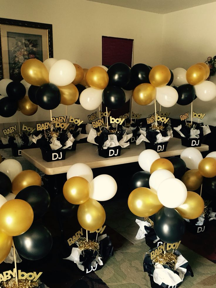 11 best black and gold images on Pinterest Birthdays Centerpiece